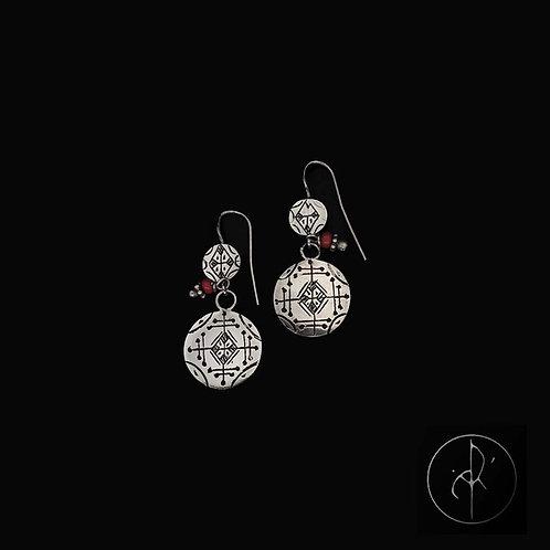 Boucles d'oreilles berbere argent