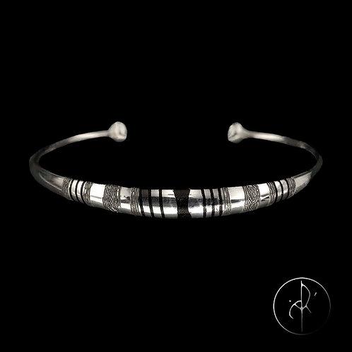 Bracelet touareg avec inclusions bois