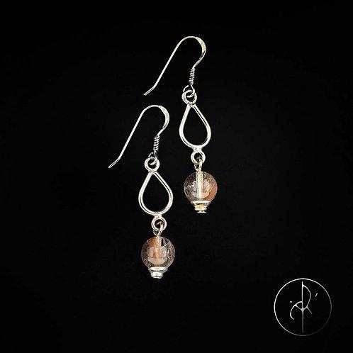 Boucles d'oreilles quartz rutile