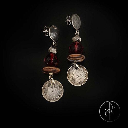 Boucles d'oreilles antiquités et monnaie hollandaise