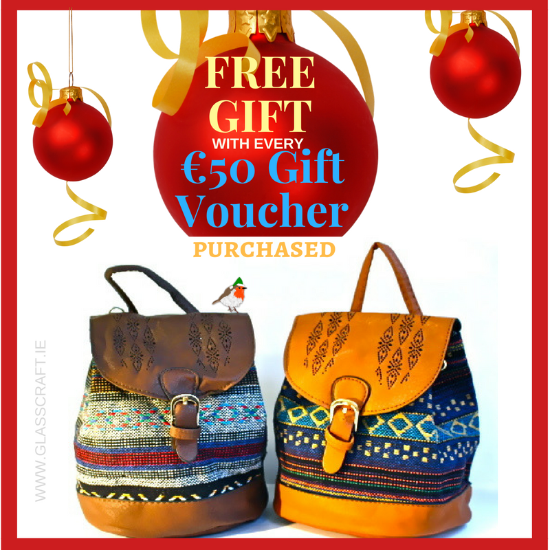 Free Italian backpack with every €50 Gift Voucher