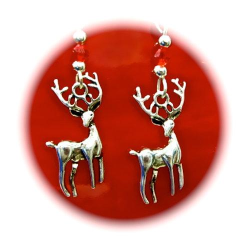 Reindeer earrings handmade christmas gifts