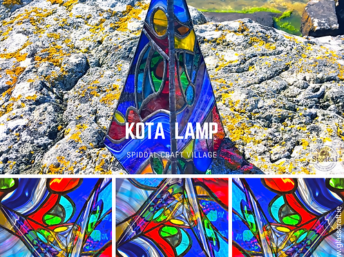 stained glass lamp made in ireland