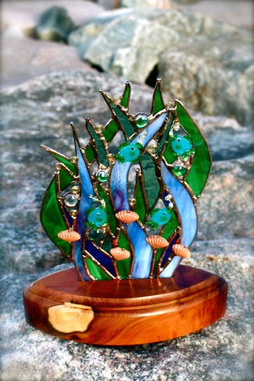 Underwater Sculpture On Wood