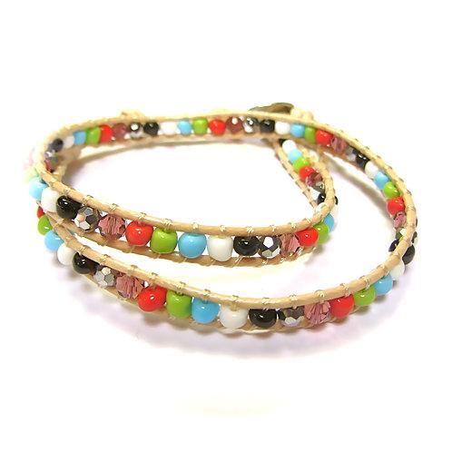 Wrap Around Bracelet Multi Colour