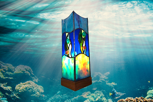 stained glass handmade lamp by Sue Donnellan Ireland