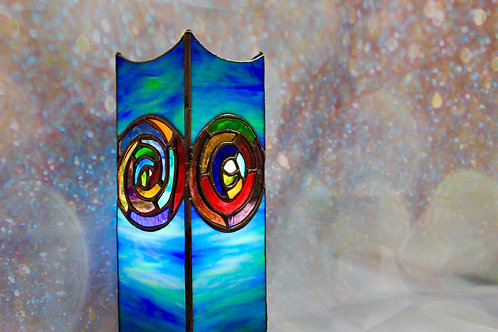 stained glass art lamp made in Ireland