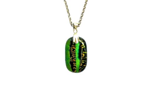 handmade green Celtic pendant jewellery