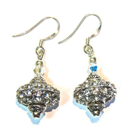 Bling glass bead earrings