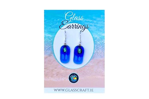Sea-Anchor Glass Earrings