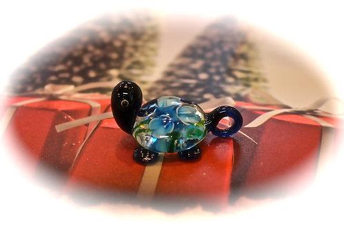 Glass Turtle Blue