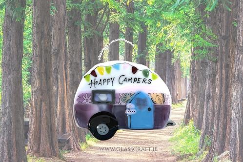 fused glass camper van caravan handmade in spiddal made in ireland