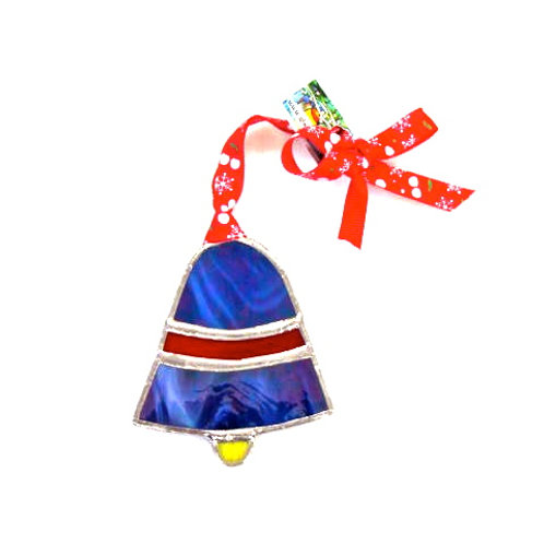stained glass christmas bell made in spiddal handcrafts christmas