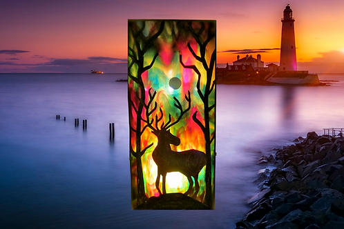 reindeer wall mounted glass lamp made in Ireland