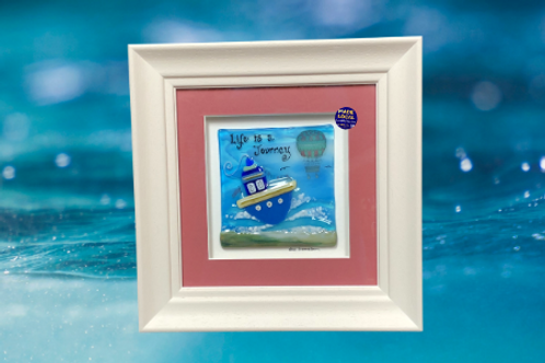 fused glass boat frame made in ireland