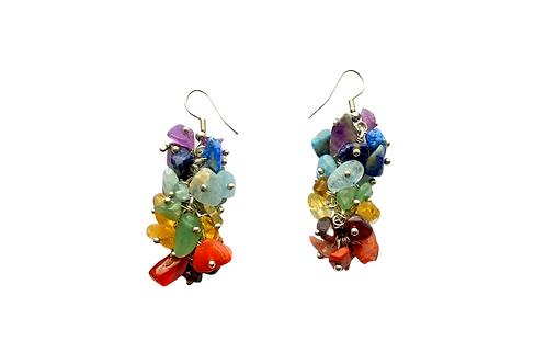 glass gem earrings handmade