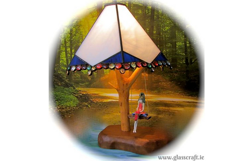 Pixie  Glass Art Lamp