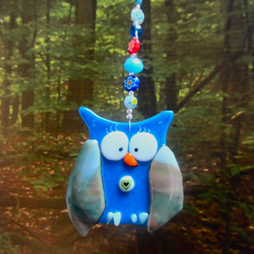 fused glass owl handmade in spiddal craft village galway ireland