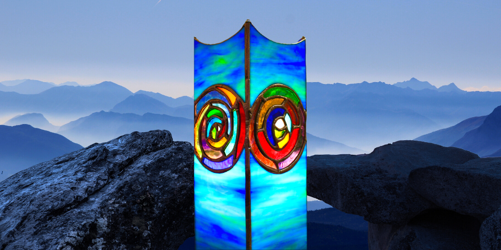 stained glass lamp sue donnellan
