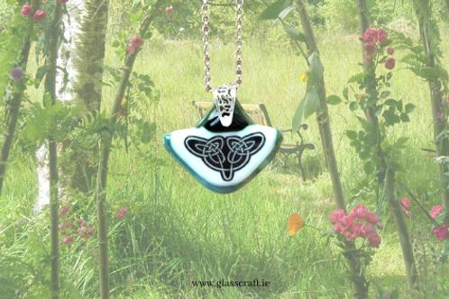 celtic Irish handmade glass pendant