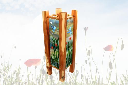 kiln fused glass art lamp by Sue Donnellan glass artist Ireland