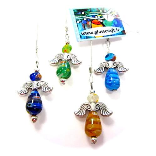 glass hanging angel handmade in spiddal craft village galway