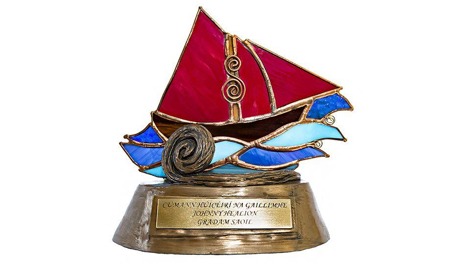 Galway Hooker Glass Trophy