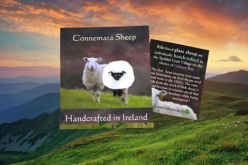 handmade kiln fused pocket Irish Connemara sheep