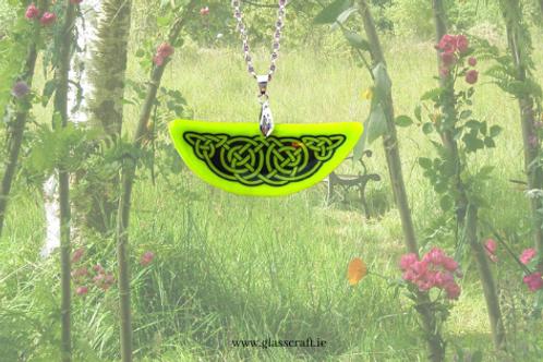 Celtic Irish glass handmade pendant jewellery