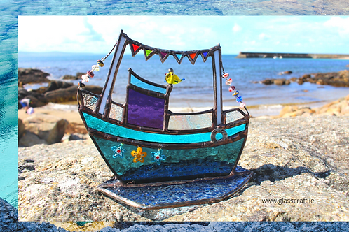 stained glass boat made in ireland