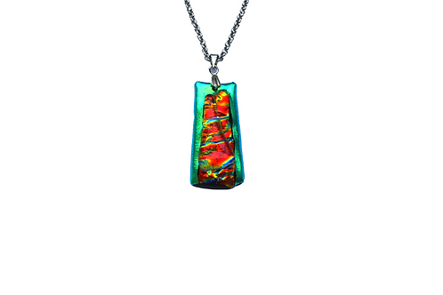 Emerald Flame Glass Pendant