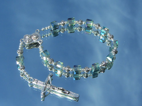 Square Crystal Rosary Beads
