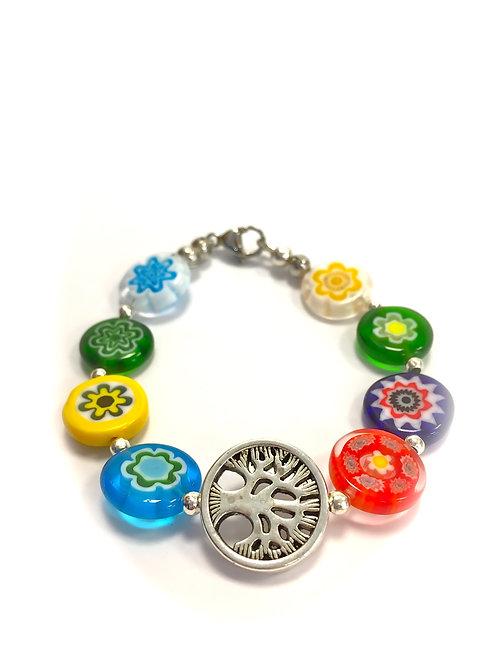 tree of life glass bracelet handmade in galway
