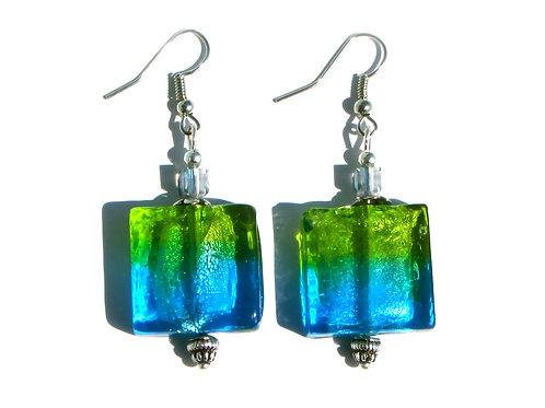 Aqua Blue/Green Earrings