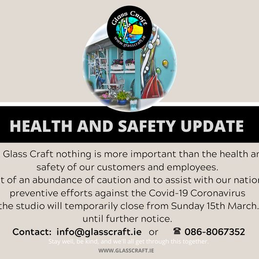 Health & Safety Update COVID-19 Coronavirus