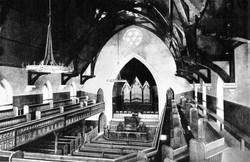Inside of the 1850 chapel