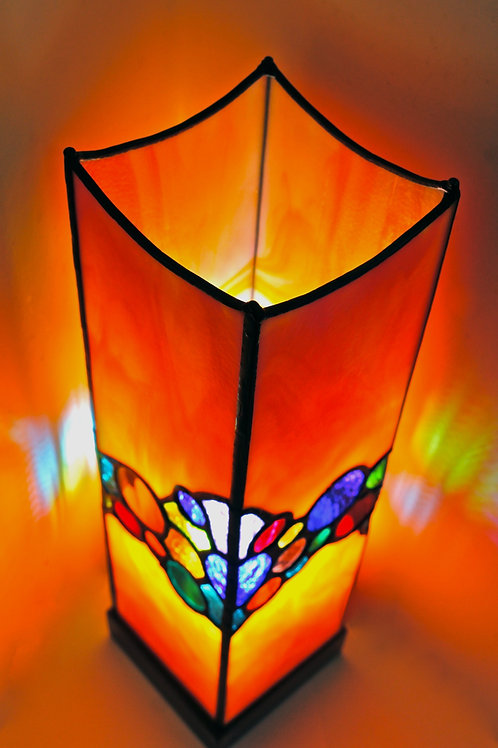 stained glass lamp by award winning Sue Donnellan Ireland