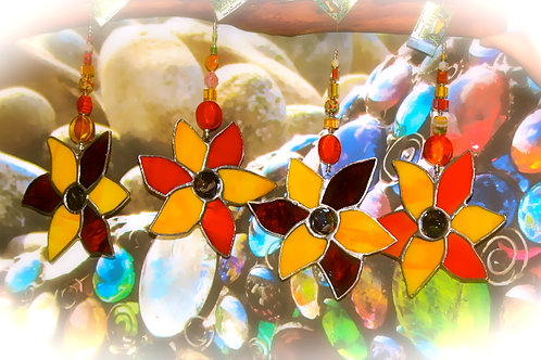 glass flower stained glass