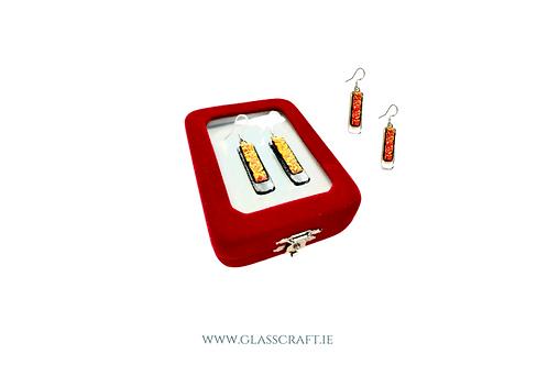 orange flame earrings Irish design