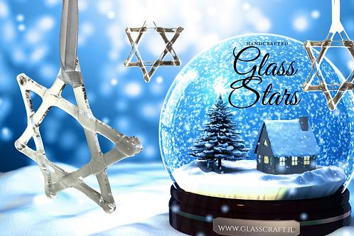festive glass stars made in ireland
