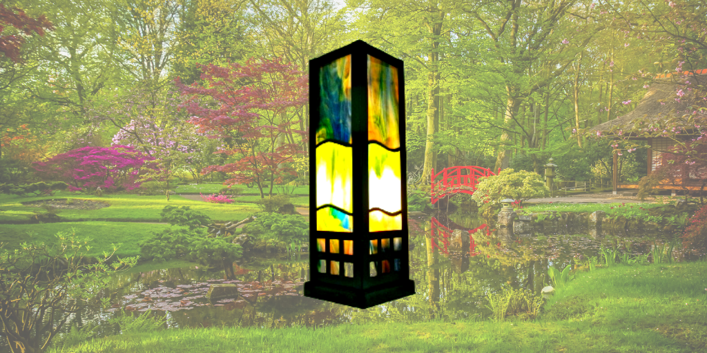 oriental style stained glass lamp sue do
