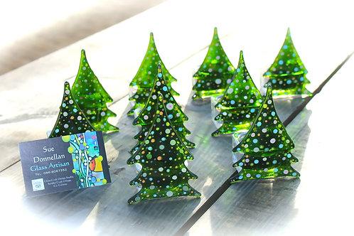 glass christmas tree candle holder tea-light holder handmade