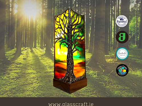 stained glass art lamps made in galway Ireland