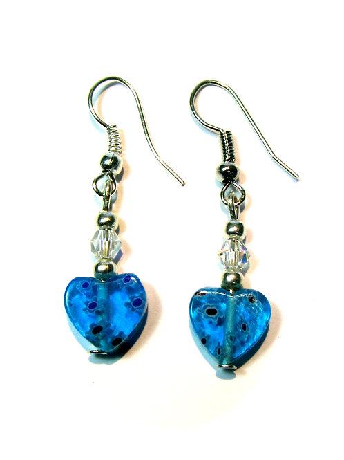 Mini Heart earring set