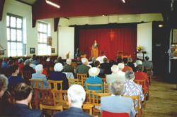 Church in the school hall