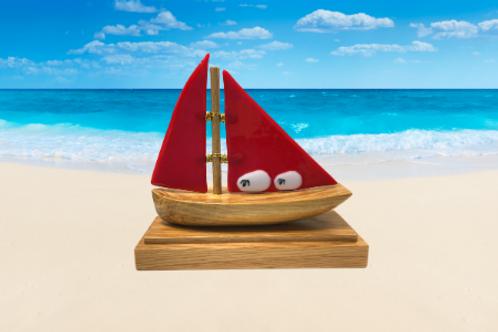 Red Oak Boat Sculpture