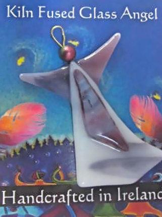 kiln fused glass angel christmas gift stocking filler