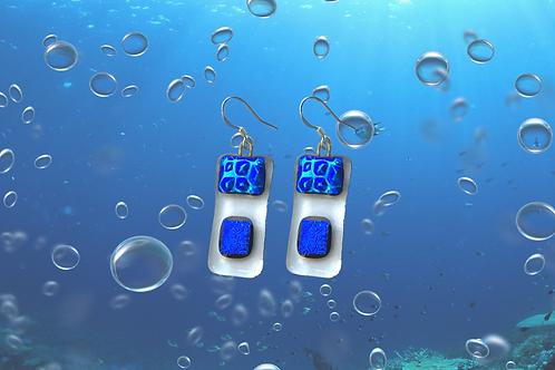 glass kiln fused earrings by Sue Donnellan