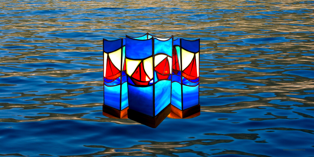 boat stained glass lamps