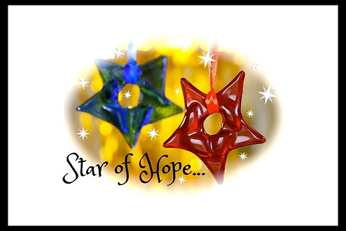 red Christmas glass star